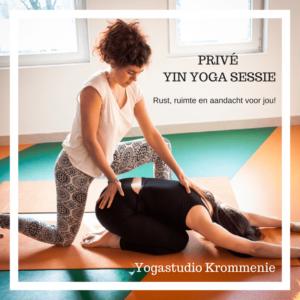 Prive yin yoga Yogastudio Krommenie